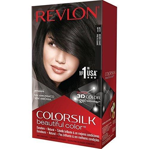 Revlon Colorsilk Beautiful Color Hair Color, Soft Black
