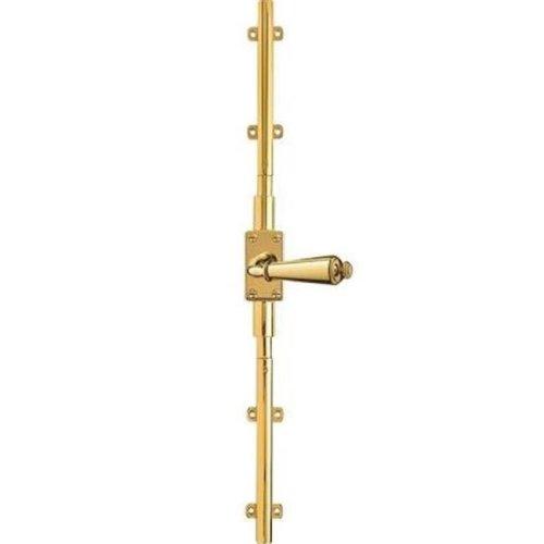 Baldwin 8107031CVR Contemporary Cremone Bolt - Non-lacquered Brass