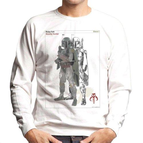 Star Wars Boba Fett Bounty Hunter Slave I Men's Sweatshirt