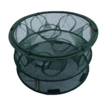Round Fishing Net Baits Cast Mesh Trap for Small Fish Shrimp Crayfish Crab - 10 Holes