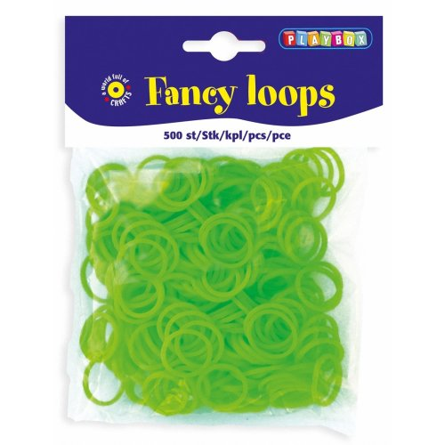 PBX2471091 - * Playbox - Loops (Loom Bands) - 500pcs green