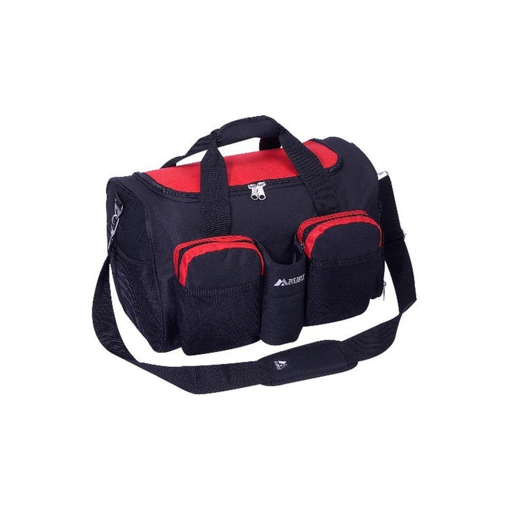 75fbf5208182 Everest S223-RD 18 in. 600 Denier Polyester Sports Duffel Bag with Wet  Pocket on OnBuy