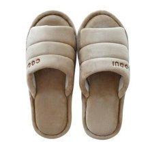 Men's Winter Warm & Cozy  Indoor Shoes Skidproof House Slipper, Khaiki