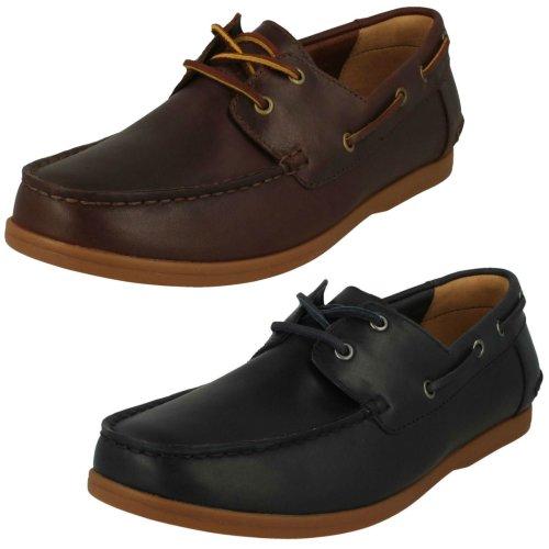 Mens Clarks Lace Up Boat Shoes Morven Sail - G Fit
