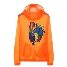 Waterproof Luminous Sun Protective Cool Cock Clothing Cycling Climbing Long Sleeve Shirts-Orange