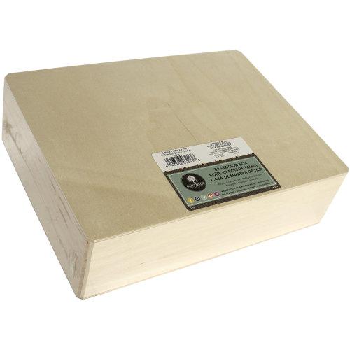 "Basswood Hinged Cornice Box-12""X3.25""X9"""