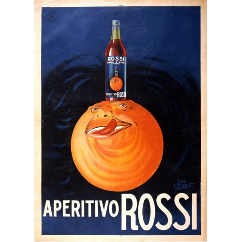 Advertising poster - Aperitivo Rossi - High definition printing on stainless steel plate