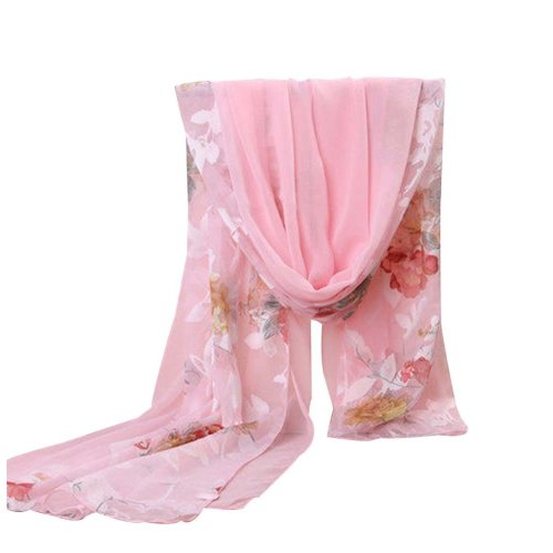 Fashion Silk Scarves Chiffon Fabric Beach Towel Shawl Uv-blocking