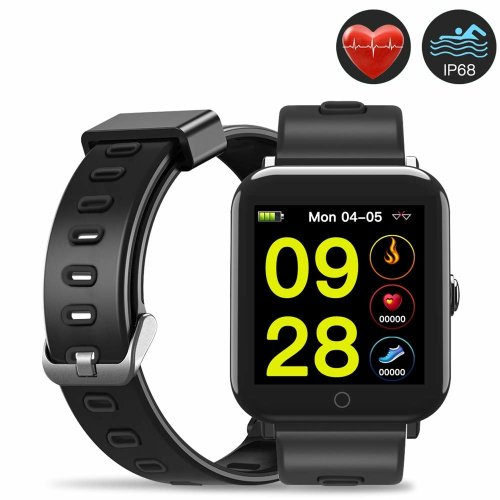 Evershop IP68 Fitness Tracker with 1.3inch IPS Square Screen for Swimming, Waterproof Fitness Tracker Watch, Activity Tracker with Heart Rate...
