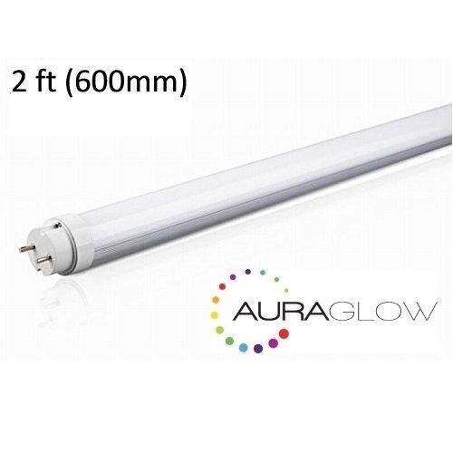 Auraglow Energy Saving 9w 2ft 600mm Cool White, 6500k, 900lm, T8 Fluorescent LED Tube Light, 18w EQV