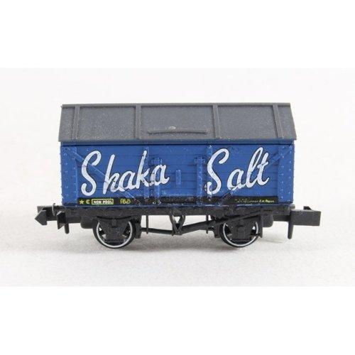 N Gauge Plank Wagon with Roof - Bright Blue Shaka Salt Peco NR-P121 free post P3