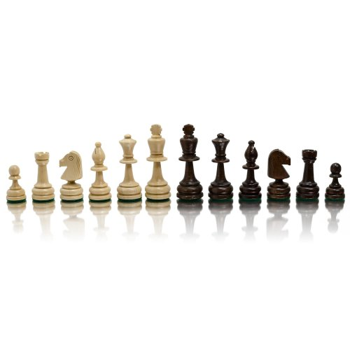STAUNTON No.5 Professional Wooden Weighted Chess Figures