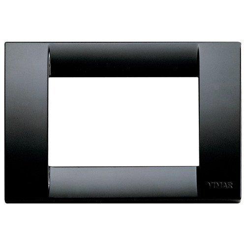 VIMAR Classic Plate, 3Positions, Technopolymer Black