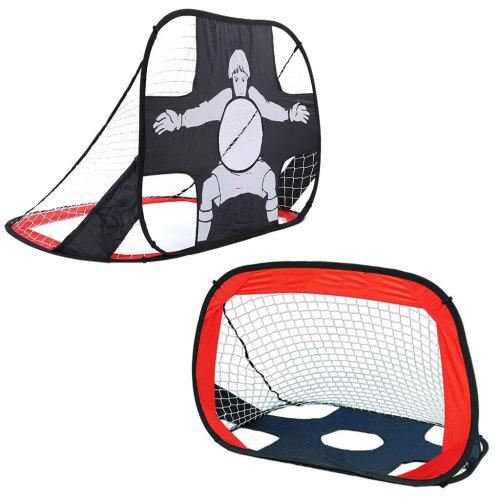 2in1 Foldable Soccer Net Pop Up Football Goal Shot Target Training Set