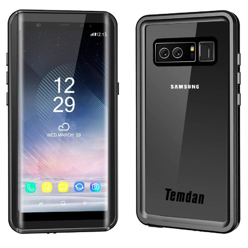 detailed look 3c6e4 679cc Temdan Samsung Galaxy Note 8 Waterproof Case with Kickstand and Floating  Strap IP68 Waterproof Shockproof Protective Clear Case for Galaxy Note 8...