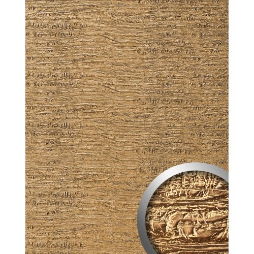 WallFace 15660 PERSIAN TREASURE Luxury textured leather sheet gold | 2.60 sqm