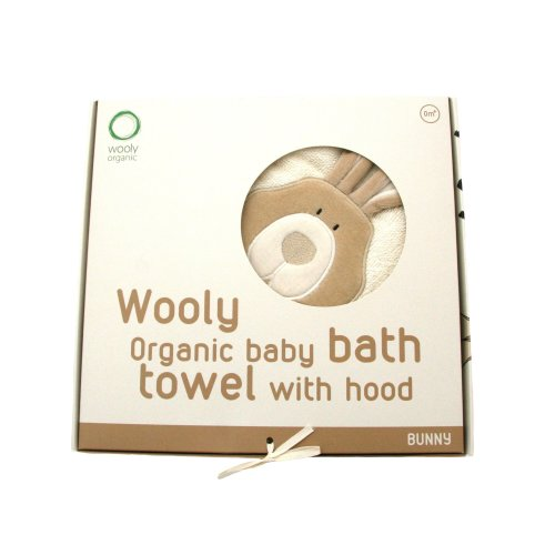 Wooly Organic Hooded Towel Bunny