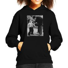 Muhammad Ali And Kenny Baker Fight Scene At Variety Show 1979 Kid's Hooded Sweatshirt