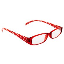 Red & White Dots +2.00 Beta View Reading Glasses -