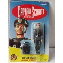 """1993 Captain Black Captain Scarlet 4"""" Vivid Imaginations Figure"""