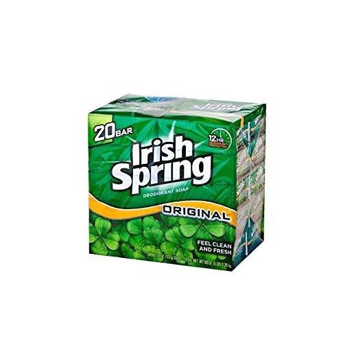 Irish Spring Original Bar Soap 8 - 20 Bars per Pack  160 Bars Total