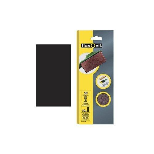 Flexovit 63642526328 1/2 Sanding Sheets Orbital 115 x 280mm Plain Fine 120g Pack of 10