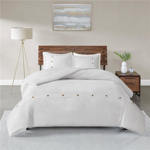 Madison Park Mp12 5627 Rianon Cotton Waffle Weave Duvet Cover Set