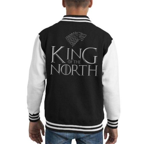 Game Of Thrones King Of The North Stark Sigil Kid's Varsity Jacket