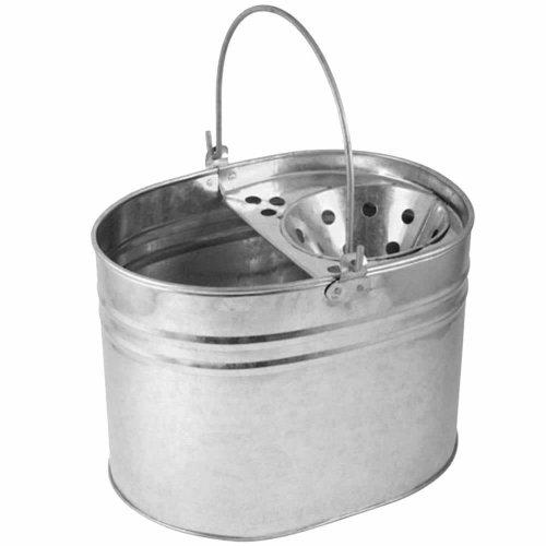 16L Heavy Duty Galvanised Metal Steel Mop Bucket General Cleaning Home Office