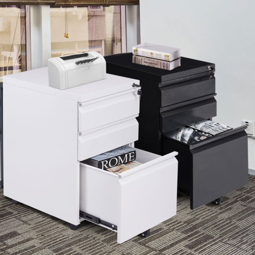 Mobile File Cabinet 3 Pedestal Drawers