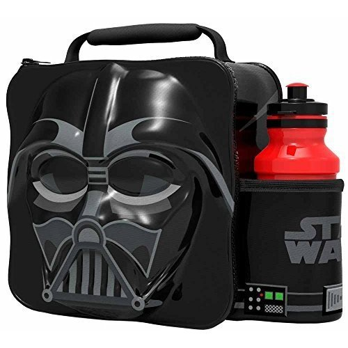 St361 - 3d Lunch Bag With Bottle - Darth Vader - Star Wars Set Thermal Box Drink -  3d lunch star wars bottle vader bag set darth thermal box drink