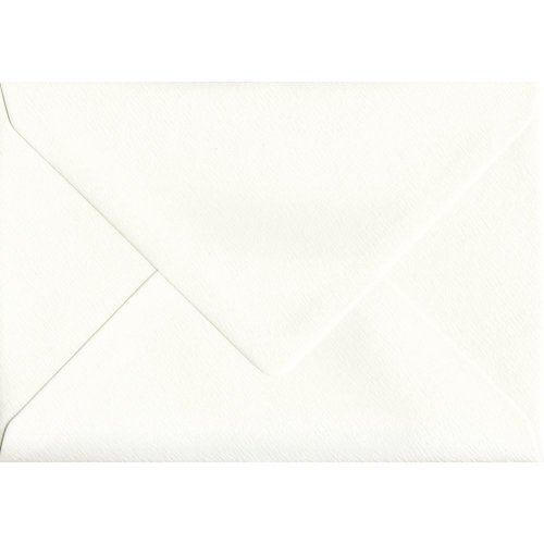"Ivory Silk Gummed 5""x7"" Coloured Ivory Envelopes. 110gsm GF Smith Accent Paper. 133mm x 184mm. Banker Style Envelope."