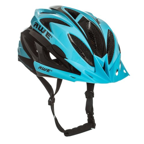 """AWE AWEAirâ""""¢ FREE 5 YEAR CRASH REPLACEMENT* In Mould Adult Mens Cycling Helmet 58-61cm Blue, Black"""