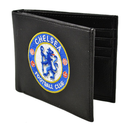 Chelsea Crest Embroidered Pu Leather Wallet