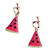 Girls Lovely Ring Children Stylish Clip-on Earrings[Watermelon]