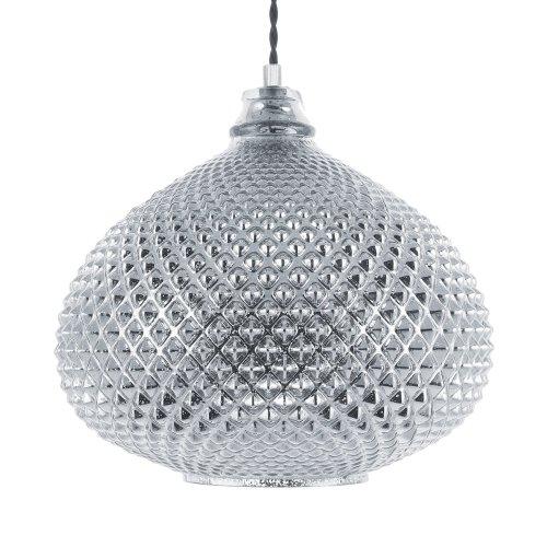 Pendant Lamp Glass Silver MADON