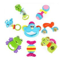 Teeth Biting Educational Toys Teether Hand Bell Toys Newborn Gift Set for Babies,8 Pcs Gift Boxes