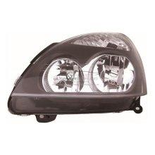 Renault Clio Mk2 Hatchback 4/2001-2005 Black Headlight Headlamp Passenger Side