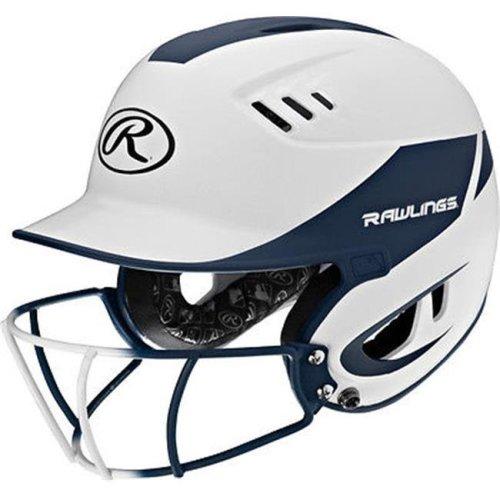 YCS 1007759 Rawlings Velo Senior 2-Tone Home Softball Helmet, Mask-Navy