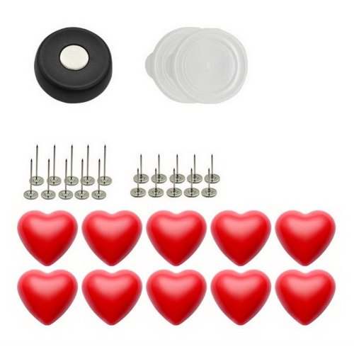10 Pack Red Heart Buckles And Anti-slip Pins Set Quilt Cover Bed Sheet Fasteners