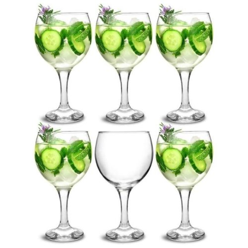 6pc Balloon Gin Glass Set | 6 Large Spanish Cocktail Glasses