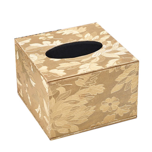 Continental Leather Tissue Box Square Wood Tissue Box