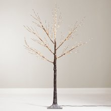Winter Workshop LED Birch Christmas Tree Indoor & Outdoor with Warm White Lights