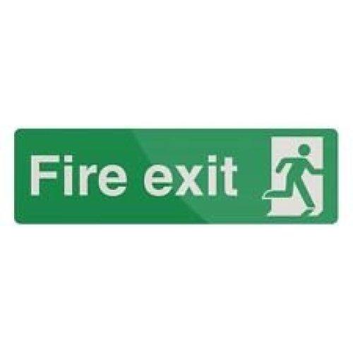 Fixman 400 x 125mm Fire Exit Sign - Pl 726937 -  fire exit 125mm pl sign 400 fixman 726937