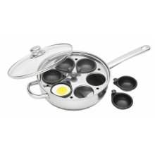28cm Stainless Steel Six Hole Egg Poacher - Kitchen Craftcm Clearview 6 28 -  egg poacher kitchen craft stainless steel cm clearview 6hole 28