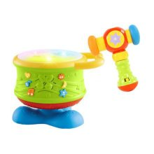 Musical Electric Baby Toys Hand Drum Instrument Percussion Set for Children,Rotary Drum+Hammer