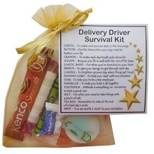 Delivery Driver Survival Kit Gift  - New job, work gift, Secret santa gift for colleague, gift for Delivery Driver gift