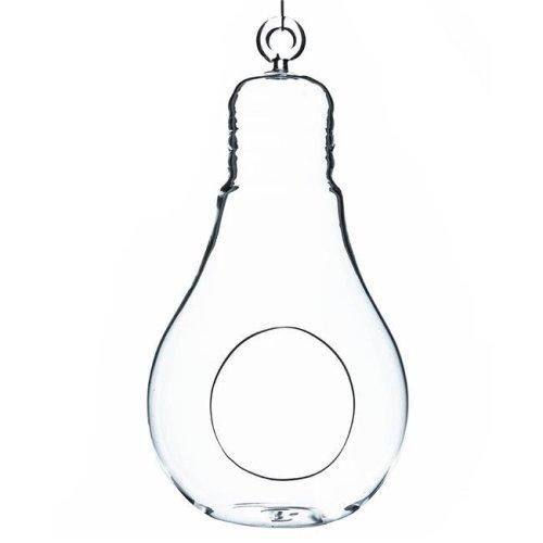 Athenas Garden HCH0608 8.25 x 4.25 in. Clear Bulb Hanging Glass Terrarium & Candle Holder
