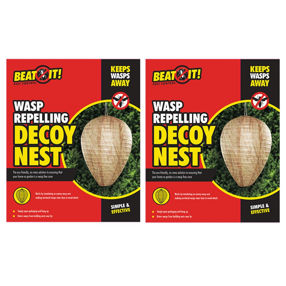 2 x Large Wasp Repelling Decoy Nests Paper Hanging Deterrent