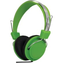 Street Style Coloured Digital Stereo Headphones - Colour Green